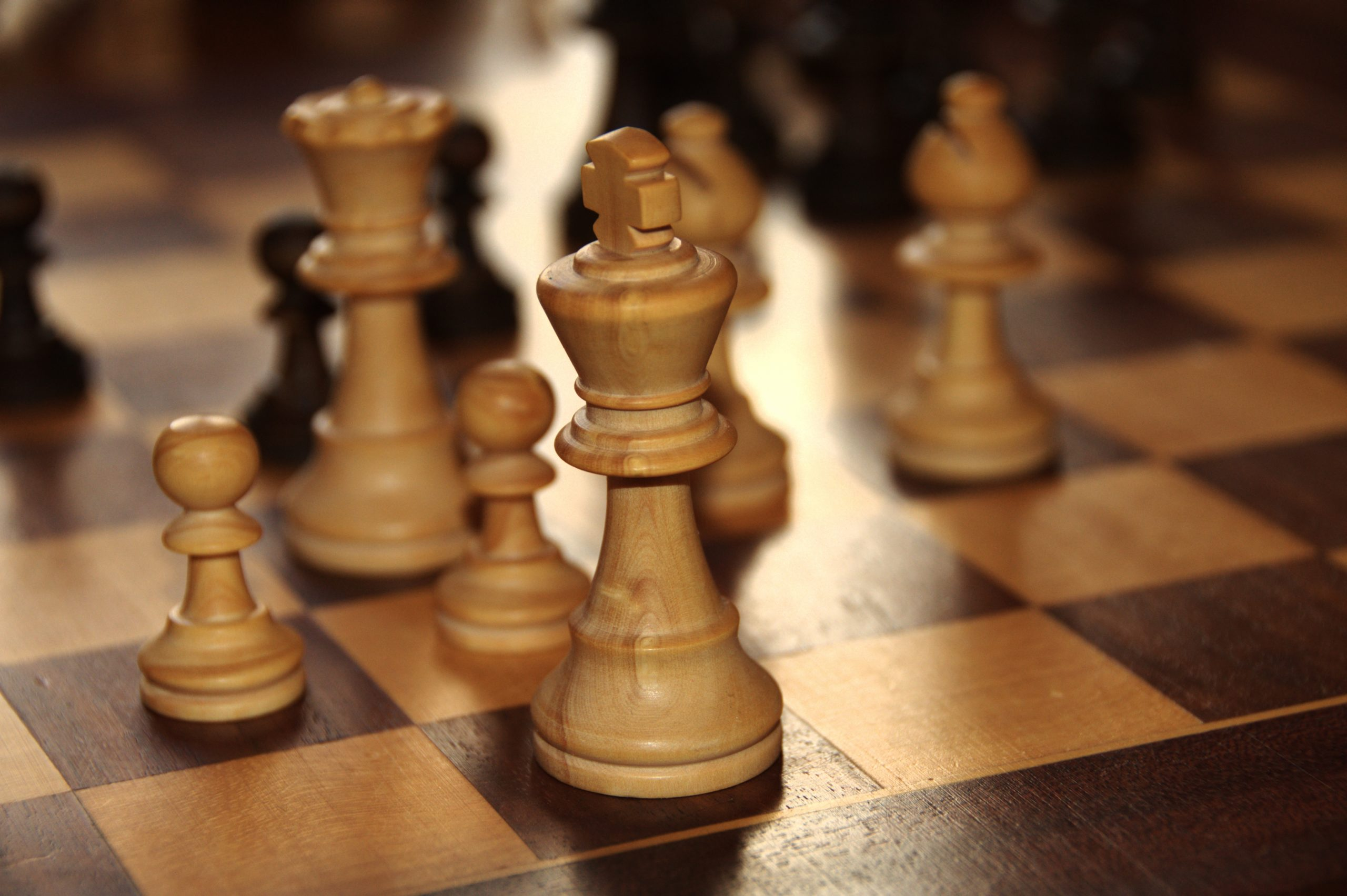 Chess Board with King